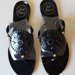Jack Rodgers jelly black size 8  NWTO woman